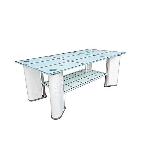 FURNITURE Table Basse Centrale CT 400 - 120 X 60 X 43 Cm - Blanc au ...