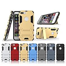 "iphone [7 plus] case, 5.5"" hard pvc+rubber cover kickstand for apple [8 plus]"