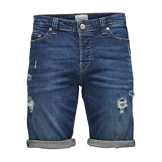 Sans marque Bermuda En Jeans Déchiré Onsply  -Bleu au Côte d'Ivoire à prix pas cher     Côte d'Ivoire