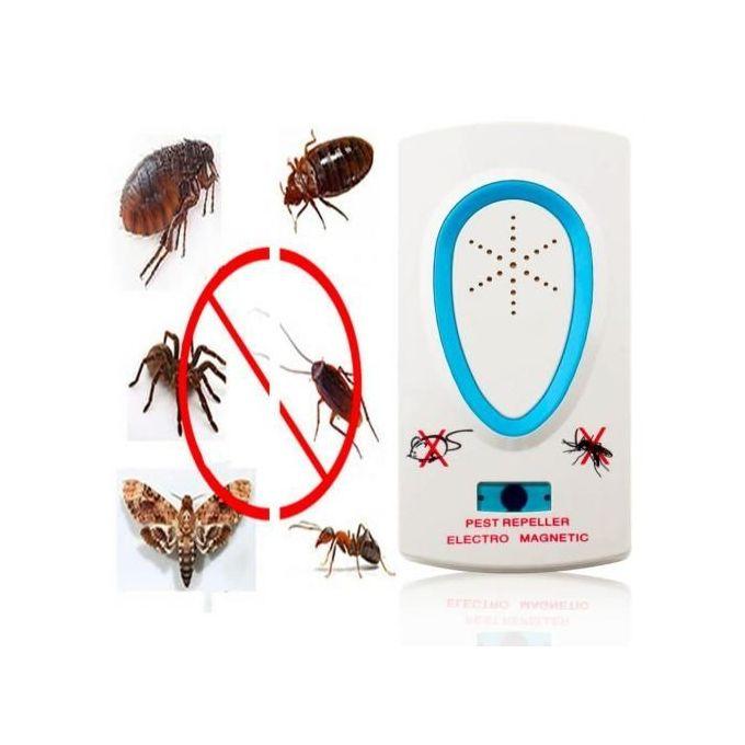 Appareil à Ultrason - Chasse Les Souris - Cafards - Moustiques Et Insectes - Blanc