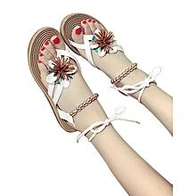 sandales perlées pour femme-blanc-37