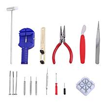16 kit de réparation de montre bracelet broche bande link remover retour d'outils à main de l'ouvreur multicolor