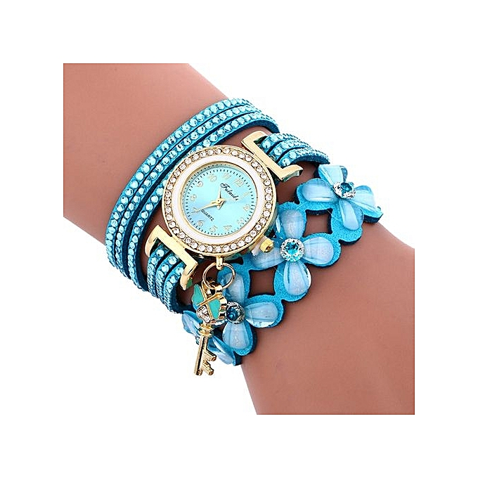 FULAIDA Africashop Watch Fulaida-Fashion Chimes Diamond Leather Bracelet Lady Womans Wrist Watch-Light Blue au Côte d'Ivoire à prix pas cher  |  Côte d'Ivoire