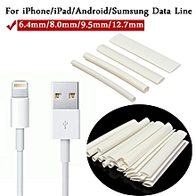 20pcs white 3/4:1 heat shrink tubing wire for iphone/android/samsung data cable