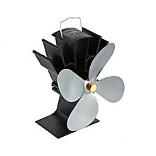 co l'énergie thermique chaleur ventilateur cheminée poêle à bois alimenté des fans à quatre feuilles-gray