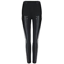 Legging En Cuir Imitation Cuir Sexy PU Femme - Noir b88ed699ff2