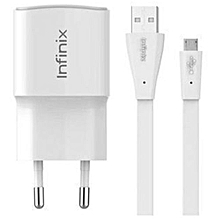 chargeur infinix originl compatible smartphone android - blanc