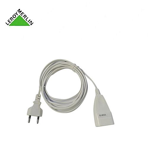 Rallonge électrique De 3m 2x075mm2 6a Blanc