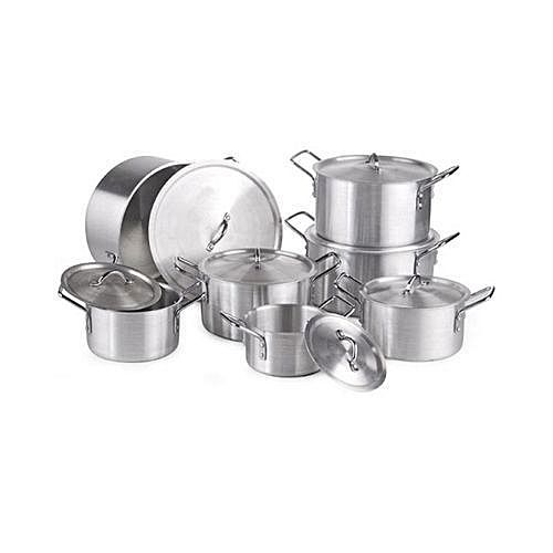 jeux de casserole aluminium cooking pot 7 pi ces inox. Black Bedroom Furniture Sets. Home Design Ideas