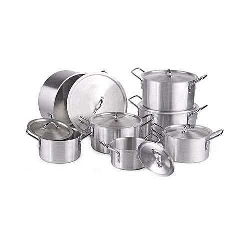 jeux de casserole aluminium cooking pot 7 pi ces inox jumia c te d 39 ivoire. Black Bedroom Furniture Sets. Home Design Ideas