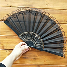 jiahsyc  chinese style lace hand held folding fan dance party wedding decor