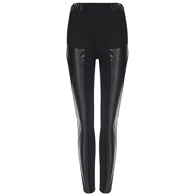 0f7951833fada Sunshine Legging En Cuir Imitation Cuir Sexy PU Femme - Noir - Prix ...