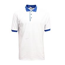 finest selection b5182 1c6b7 Polo Manches Courtes Mixte - Blanc Bleu