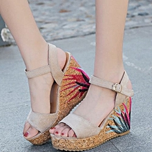 summer women thick sole wedge sandals