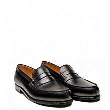 0b04a926aa876f Chaussures Hommes En Mocassins Avec Detail Moustache - Noir
