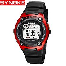 synoke nouvelle montre numérique d'enfants électronique montre-bracelet de sport d'enfant pour les montres de garçon de fille