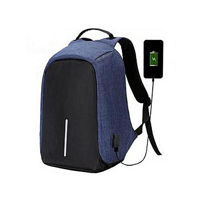Sans marqueSac à Dos Intelligent Connecté Avec Port USB Anti – Vol Résistant à L'eau Avec Power Bank – BleuSacs à Dos |  Côte d'Ivoire