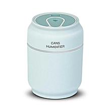 3 en 1 200 ml usb forme d'humidificateur d'air 7 couleurs led lampe arôme diffuseur d'huile essentielle mist maker fogger avec mini ventilateur - bleu
