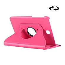 litchi texture 360 degree rotation leather case with multi-functional holder for samsung galaxy tab s2 8.0(magenta)