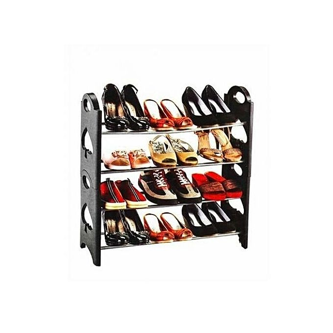 stakable shoe rack etag re chaussures montable 12 paires noir acheter en ligne jumia. Black Bedroom Furniture Sets. Home Design Ideas