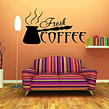 jiahsyc store coffee cups kitchen wall stickers cafe vinyl art decals pub cafe home decals-black