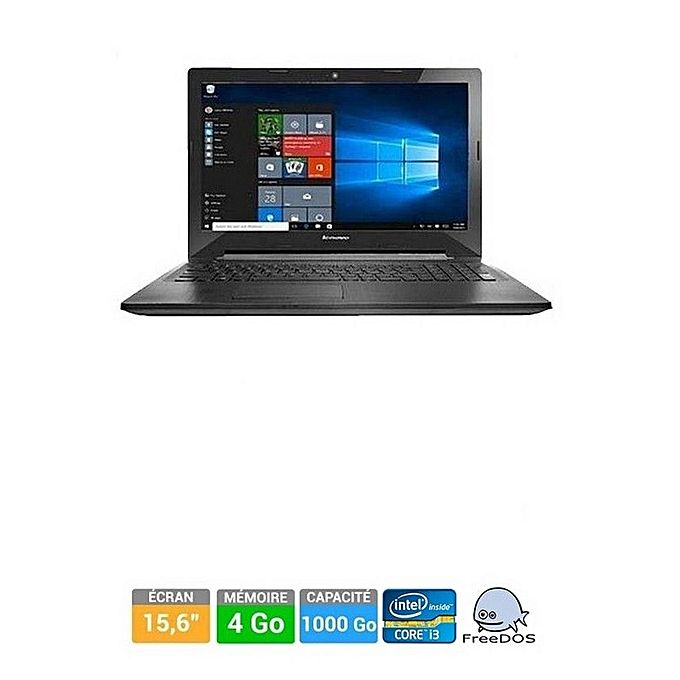lenovo pc ordinateur portable g50 80e5 15 6 pouces intel core i3 4 go de ram 1 to. Black Bedroom Furniture Sets. Home Design Ideas