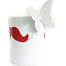 18pcs 3d papillons autocollants gris, de mur de chambre, salon, hall, toute surface plane