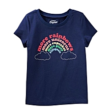 t-shirt fillette - oshkosh b'gosh originals graphic tee - bleu marine