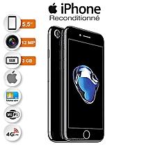 iphone 7 plus - 5.5 pouces - 4glte - 128go rom- 3 go ram - 12mpx+12mpx - noir+ protège offert reconditionné - garantie 12 mois
