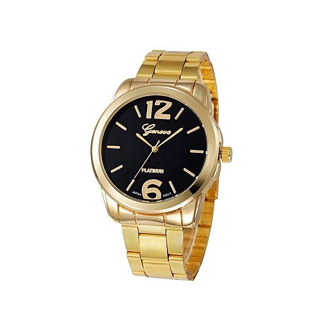Geneva Geneva Women's  Wrist Watch  Fashion Women Men Simple Stainless Steel Analog Quartz Wrist Watch@Black au Côte d'Ivoire à prix pas cher  |  Côte d'Ivoire