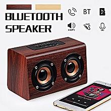 wireless handsfree wooden bluetooth hi-fi speaker subwoofer aux tf music player