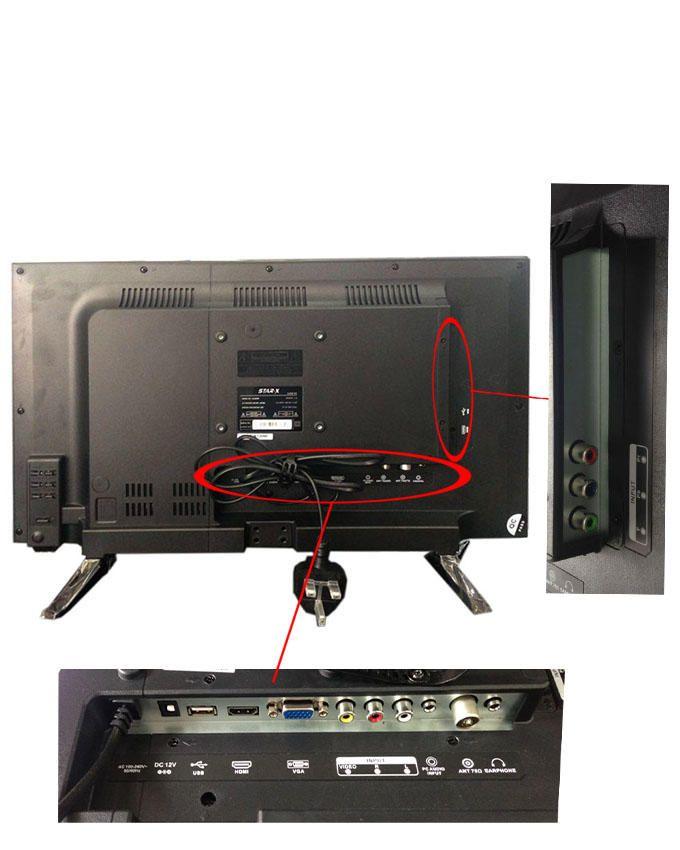 star x tv led 19ln4130 19 pouces ports usb vga hdmi. Black Bedroom Furniture Sets. Home Design Ideas
