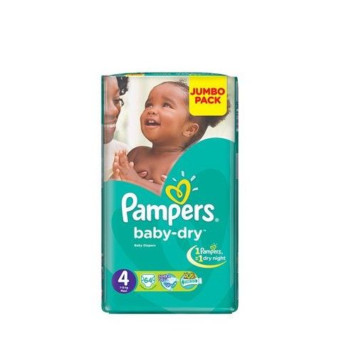 Pampers couches baby dry taille 4 7 18 kg jumbo - Prix couches pampers baby dry taille 4 ...
