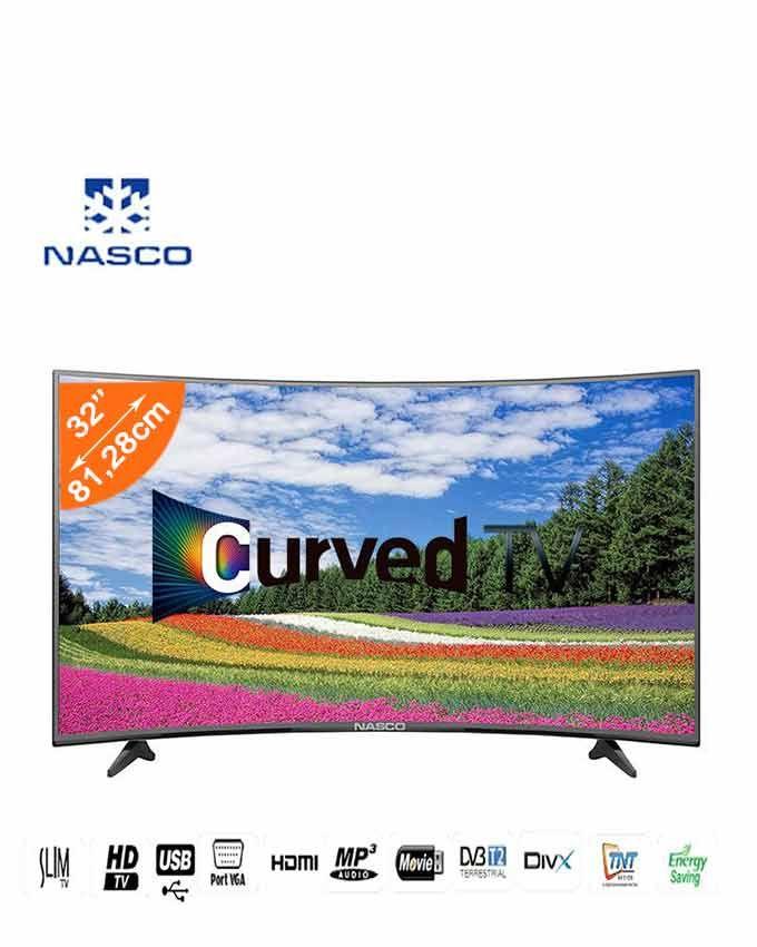 Nasco tv led incurv e 32 pouces hdmi usb port vga - Tv avec decodeur satellite integre ...