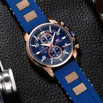 product_image_name-Mini Focus-Montre A Quartz Pour Homme - MF0268G.01 - Bleu-3
