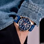 product_image_name-Mini Focus-Montre A Quartz Pour Homme - MF0268G.01 - Bleu-4