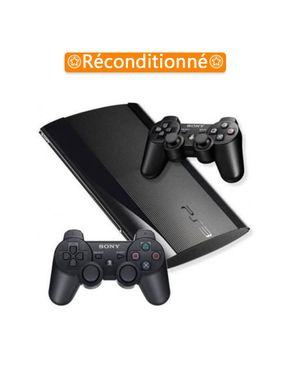sony computer entertainment playstation 3 slim 120 go 2 manettes noir plus de 10 jeux. Black Bedroom Furniture Sets. Home Design Ideas