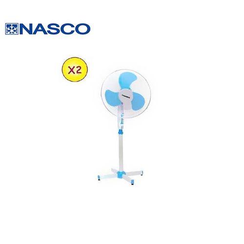 """product_image_name-Nasco-2 Ventilateurs à Pied 16"""" - Vent_FS40-24 - Blanc / Bleu - Garantie 3 Mois-1"""