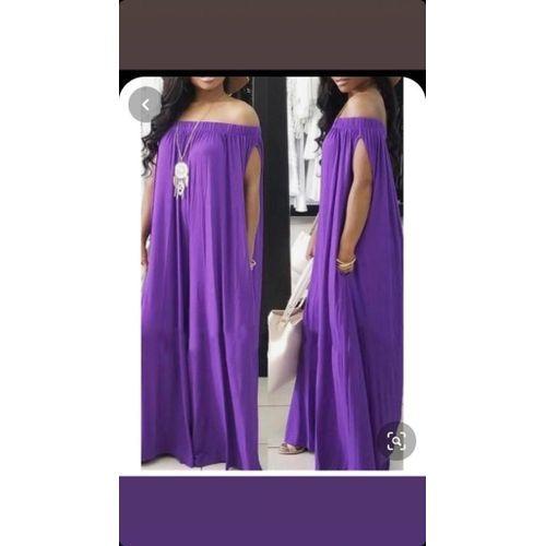 Fashion Robe Longue Ample Violet Prix Pas Cher Jumia Ci