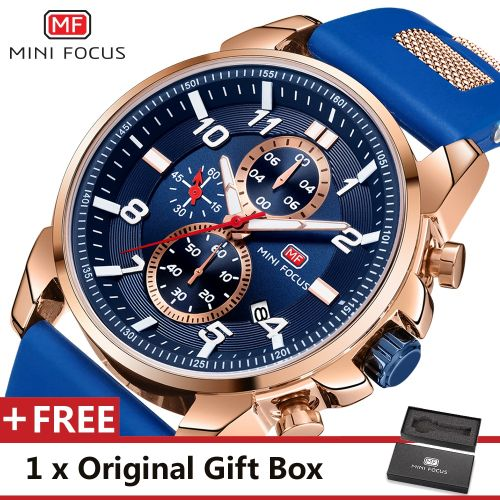 product_image_name-Mini Focus-Montre A Quartz Pour Homme - MF0268G.01 - Bleu-1