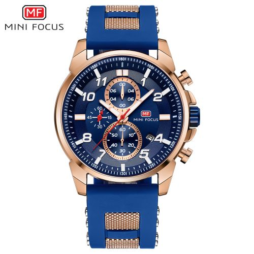 product_image_name-Mini Focus-Montre A Quartz Pour Homme - MF0268G.01 - Bleu-2