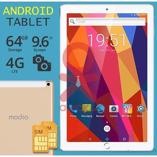 product_image_name-Modio-Tablette 9,6 Pouces - 64 Go- 3 Go 4G- Wi-Fi Double Sim -Avec Un Clavier Offert-2