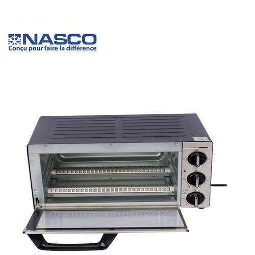 product_image_name-Nasco-Mini Four Électrique - TO9523-GS - 14 Litres - 1300W - Gris/Noir -Garantie: 3 Mois-1