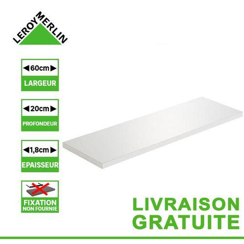 Leroy Merlin Etagere Murale Tablette Blanc L 60 X P 20cm Ep 18 Mm Prix Pas Cher Jumia Ci
