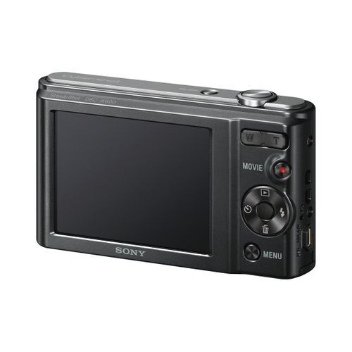 sony appareil photo dsc w800 compact grand angle macro flash noir 20 1 m gapixels 5x