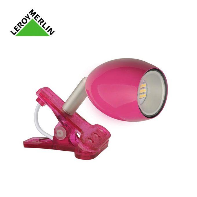 Spot Pince Araled 15w Rose Fuschia Ampoule Led Fournie Garantie 1 An Led Déco Chambre Fille