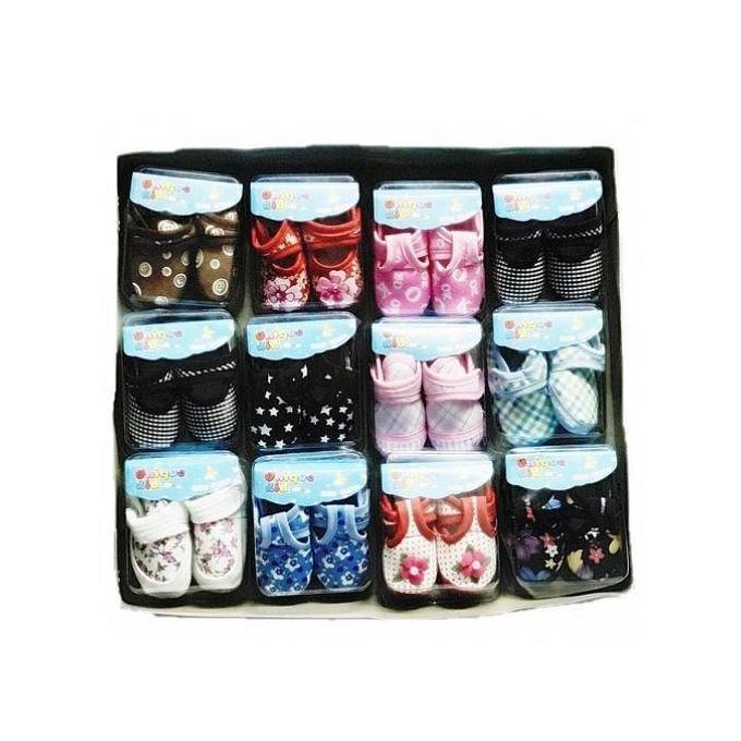 product_image_name-Fashion-Lot De 12 Paires De Chaussure Pour Bébé (1 à 8 Mois) - Multicolore-1