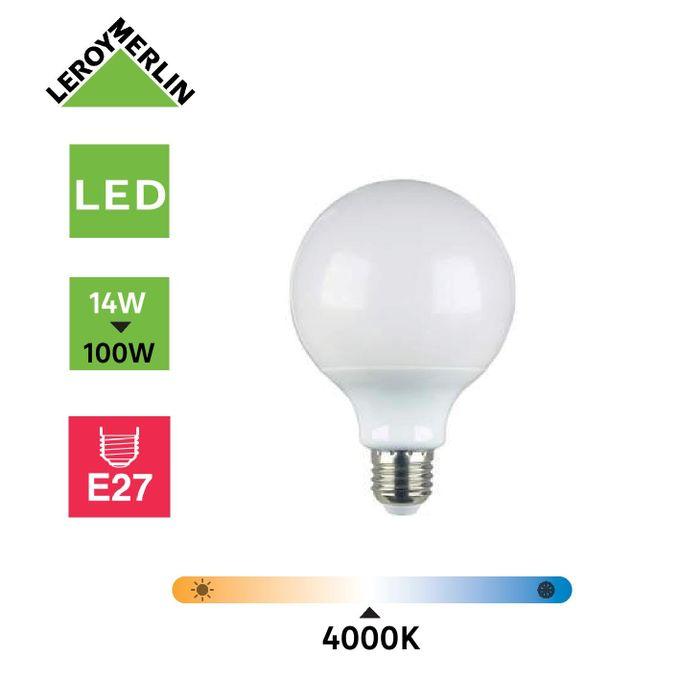 Ampoule Led Globe E27 Diam 95mm 14w 1521lm équiv 100w 4000k Led économie D énergie