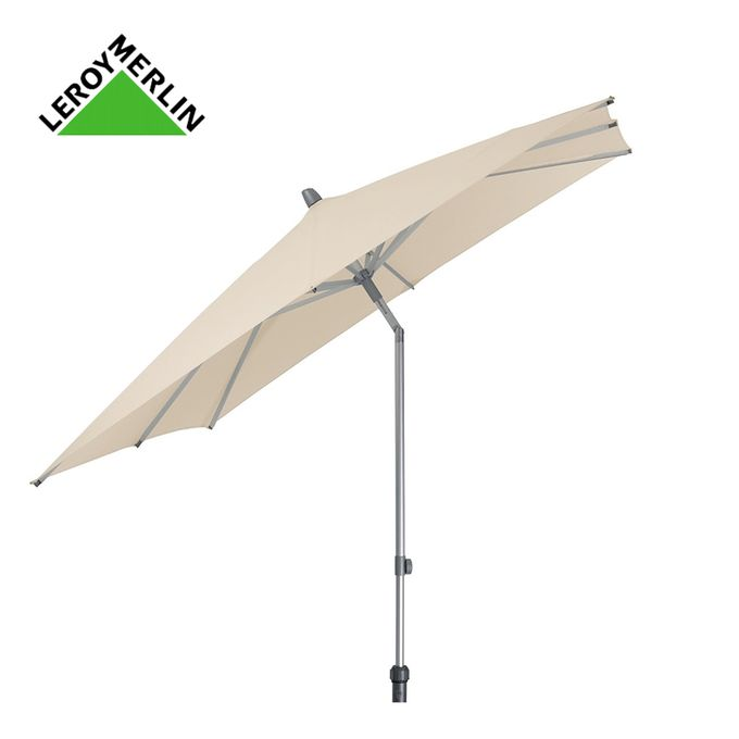 Parasol Aluminium Gris Orientable Diam 3m