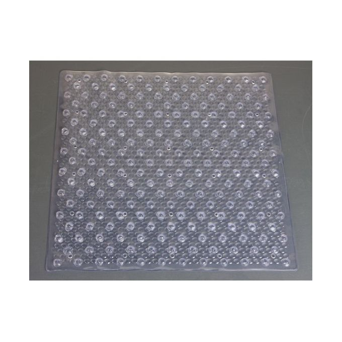Tapis Antidérapant à Ventouse Transparent Pour Douche 52x52 Cm Funky Garantie 1 An